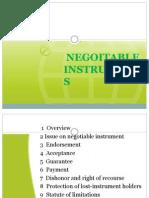 Negoitable Instruments