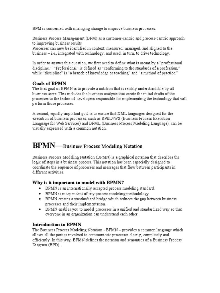 Bpmn Business Process Management Flow Diagram Using Notation