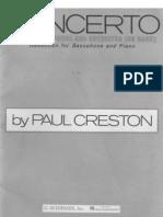 Creston - Concerto (Score)