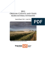 Oregon County and State Agricultural Estimates 2011