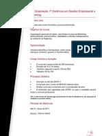 1ª Gerência em Gestão Empresarial e Marketing _Noite- Sábado_ 2010