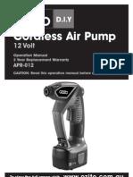 Ozito Cordless Aircompressor Manual 2012