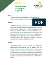 A. Plan Estrategico Adel Metro 2011-2013