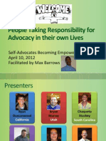 Self Advocates Becoming Empowered with Autism NOW April 10, 2012