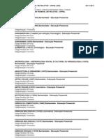 UFPEL - Cursos carga horária e semestres