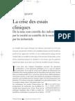 Pignarre - La Crise Des Essais Cliniques