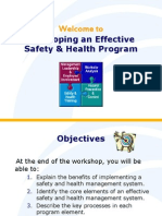 Developing an Effective Safety & Health Program