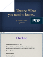 Game Theory PPT by Komilla Chadha