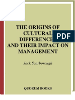 The Originals of Cultural Differences and Their Impacts on Management - Book
