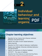 Individual Behaviour and Learning