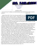 LESSON 2 - BIBLE DOCTRINE - THE GODHEAD