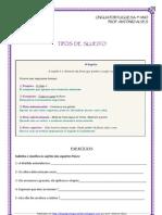 Funções Sintáticas - Tipos de Sujeito-def.e exerc. (blog7 11-12)
