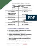 Cronograma Tf - 2012