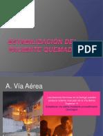 Estabilización del paciente quemado