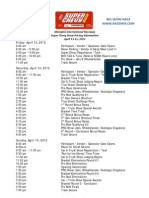 2012 - Super Chevy Show Schedule