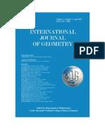 International Journal of Geometry, Vol. 1, No. 1, 2012
