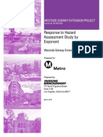 Metro Response to Hazard Assessment Study by Exponent