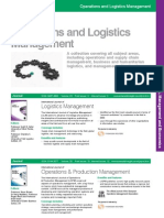 Operations Logistics Management