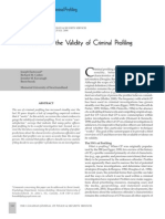 A Review of the Validity of Criminal Profiling