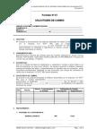 ISO 12207 Formato Nro 7 SOLICITUDES DE CAMBIO