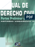 Vodanovic Haklicka, Antonio – Manual de Derecho Civil – Parte Preliminar y General Vol I