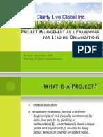 Pm Framework Process Areas