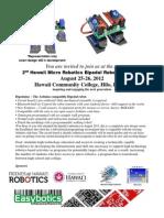 2012 Bipedal Robot Workshop