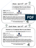 KIC Earth Week Flyer