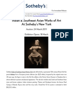 Sotheby's Press Release for Cambodian Statue