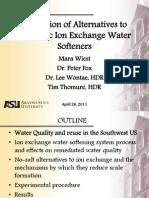 Arizona State University Water Soft Ner Study