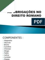 AS OBRIGAÇÕES NO DIREITO ROMANO