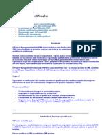 Como é o processo de certificação PMP