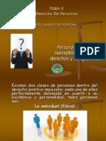 Tema 2 Derecho de Personas