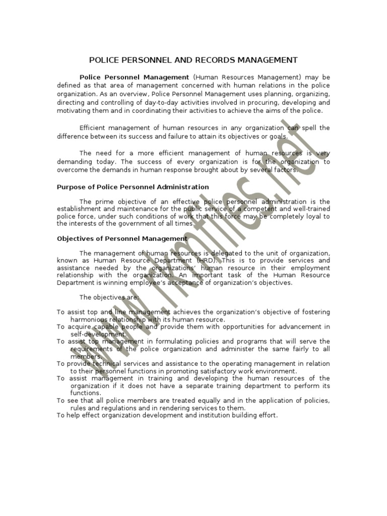 Police personnel and records mgmt performance appraisal policy fandeluxe Gallery