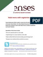 Halal Menu Lifestyle Danang Vietnam