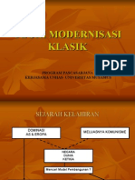 Teori Modernisasi Klasik-New