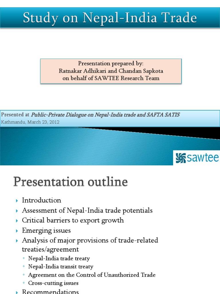 Study On Nepal India Trade 2012 03 23 Nepal Exports