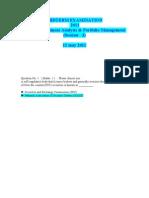 Fin 630 Midterm Examination 2011