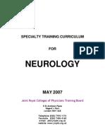 Neurology Specialty Training Curriculum May 2007
