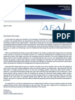 Delta Epsilon Delta Letter to Leaders and Members