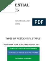 Residential Status