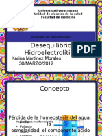 DESEQUILIBRIO HIDROELECTROLITICO PEDIATRIA