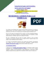 Remedios Caseros Para Las Verrugas.