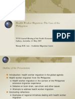 825 Health Worker Migration the Case of the Philippines