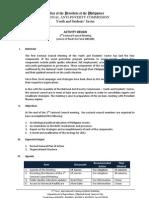 Activity Proposal - 2nd Sectoral Council Mtg