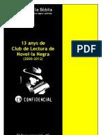 13 anys de Club de Lectura de Novel·la Negra (2000-2012)