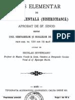 Curs Elementar de Muzica Bisericeasca - De Nicolae Severeanu, 1900