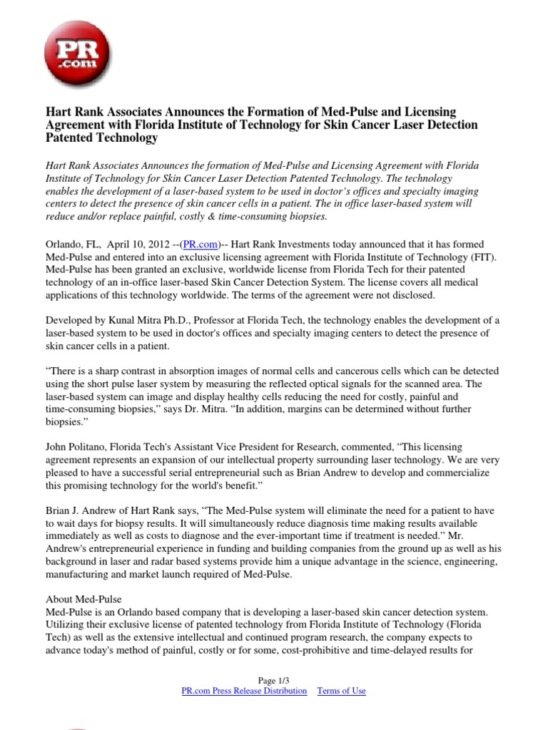 Hart Rank Associates Announces The Formation Of Med Pulse And