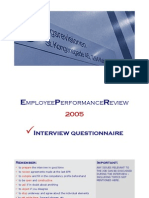 Employee Performance Review - Interview Questionnaire