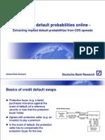 CDS Default Probabilities